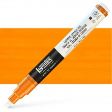 Liquitex : Professional : Marker : 2-4mm Chisel Nib : Cadmium Orange Hue