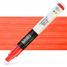 Liquitex : Professional : Marker : 2-4mm Chisel Nib : Fluorescent Red