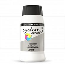 Daler Rowney : System 3 Acrylic Paint : 500ml : Titanium White