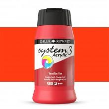 Daler Rowney : System 3 Acrylic Paint : 500ml : Vermillion Hue