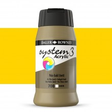 Daler Rowney : System 3 Acrylic Paint : 500ml : Pale Gold Hue