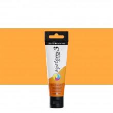 Daler Rowney : System 3 Acrylic Paint : 59ml : Cadmium Orange Light Hue