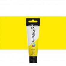 Daler Rowney : System 3 Acrylic Paint : 59ml : Lemon Yellow