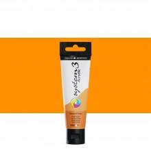 Daler Rowney : System 3 Acrylic Paint : 59ml : Fluorescent Orange