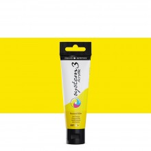 Daler Rowney : System 3 Acrylic Paint : 59ml : Fluorescent Yellow