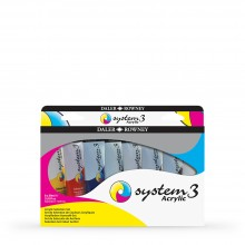 Daler Rowney : System 3 : Acrylic Paint : 59ml : Selection Set of 8