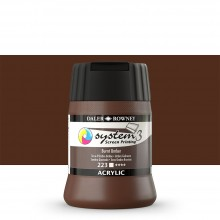 Daler Rowney : System 3 : Screen Printing Acrylic Paint : 250ml : Burnt Umber