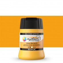Daler Rowney : System 3 : Screen Printing Acrylic Paint : 250ml : Cad Yellow Deep Hue