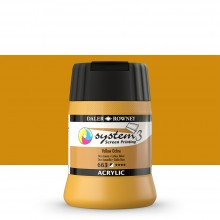 Daler Rowney : System 3 : Screen Printing Acrylic Paint : 250ml : Yellow Ochre