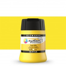 Daler Rowney : System 3 : Screen Printing Acrylic Paint : 250ml : Process Yellow