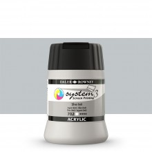 Daler Rowney : System 3 : Screen Printing Acrylic Paint : 250ml : Silver Imitation