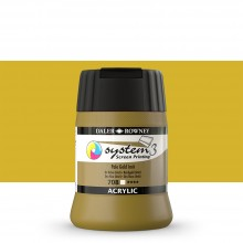 Daler Rowney : System 3 : Screen Printing Acrylic Paint : 250ml : Pale Gold Imitation