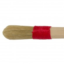 Borciani e Bonazzi : Cordbound Artists Brush With Domed White Bristles : # 16