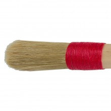 Borciani e Bonazzi : Cordbound Artists Brush With Domed White Bristles : # 20