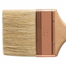 Handover : Thin Flat Lily Bristle Decorating Brush Copper Ferrule : 100 mm