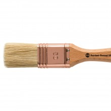 Handover : Thin Flat Lily Bristle Decorating Brush Copper Ferrule : 30 mm