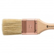 Handover : Thin Flat Lily Bristle Decorating Brush Copper Ferrule : 40 mm