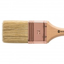 Handover : Thin Flat Lily Bristle Decorating Brush Copper Ferrule : 50 mm