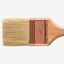 Handover : Thin Flat Lily Bristle Decorating Brush Copper Ferrule : 60 mm