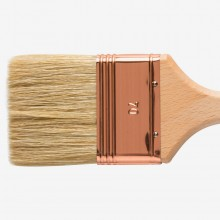 Handover : Thin Flat Lily Bristle Decorating Brush Copper Ferrule : 70 mm