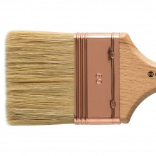 Handover : Thin Flat Lily Bristle Decorating Brush Copper Ferrule : 80 mm