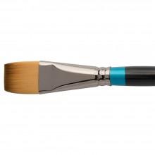 Daler Rowney : Aquafine Watercolour Brush : Af55 Short Flat : 1In.