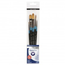 Daler Rowney : Aquafine Watercolour Brush : Wallet Set : 501