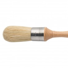 Escoda : Domed Lily Bristle Round Brush : No.6. : Stainless Steel Ferrule 30mm