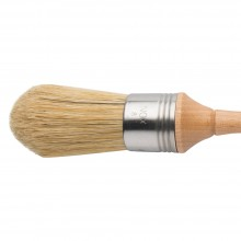 Escoda : Domed Lily Bristle Round Brush : No.8. : Stainless Steel Ferrule 36mm