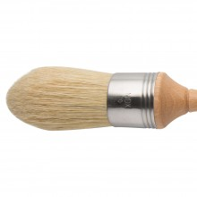 Escoda : Pointed Lily Bristle Round Brush : No.10. : Stainless Steel Ferrule 42mm