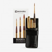 Escoda : Watercolour Travel Brush Set : Reserva : Series 1250 : Set of 3