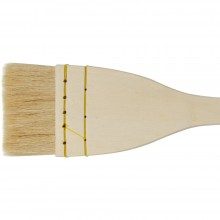 Jackson's : Artist Hake White Goat Hair Brush : Flat : 2.25in (60mm)