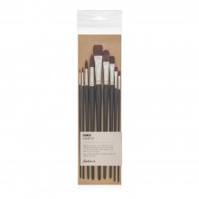 Jackson's : Shinku Red Synthetic Bristle Hair Brush : Set of 9