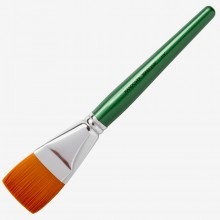 Handover : Series 2107 Synthetic Flat One Stroke Brush : Green Handle : 11/2 in