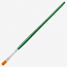 Handover : Series 2107 Synthetic Flat One Stroke Brush : Green Handle : 1/4 in