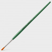 Handover : Series 2107 Synthetic Flat One Stroke Brush : Green Handle : 1/8 in