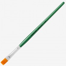 Handover : Series 2107 Synthetic Flat One Stroke Brush : Green Handle : 3/8 in