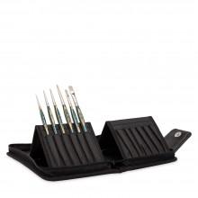 Panart : Interlocked Synthetic : Watercolour Brush : Set of 6 : 0,4,6,10 Round, 6,10 Flat