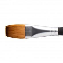 Princeton : Aqua Elite : Synthetic Kolinsky Sable : Watercolour  Brush : Series 4850 : Short Handle : Stroke : Size 3/4in