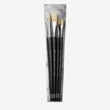 Pro Arte : Brush Wallet set - Studio Hog : 2-8 Rnd 6-10 Flat & 4 Fb