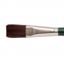 Silver Brush : Ruby Satin : Synthetic Brush : Series 2501 : Flat : Size 12