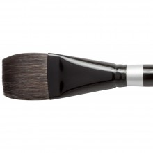 Silver Brush : Black Velvet : Squirrel & Risslon Brush : Series 3008S : Square Wash : Size 1-1/2in
