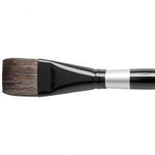 Silver Brush : Black Velvet : Squirrel & Risslon Brush : Series 3008S : Square Wash : Size 1-1/4in