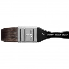 Silver Brush : Black Velvet : Squirrel & Risslon Brush : Series 3014S : Wide Wash Blender : Size 1in
