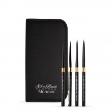 Silver Brush : Black Velvet : Voyage Travel Brush : Series 3100ST : Round : Set of 4