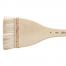 Silver Brush : Atelier Hake : Long Handle : Flat : Size 40 : 75mm Wide