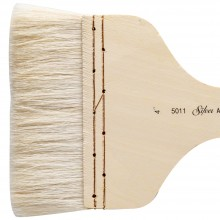 Silver Brush : Atelier Hake : Short Handle : Flat : Size 4in