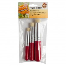 Silver Brush : Art Sherpa : Stencil Mini Brush Set of 3
