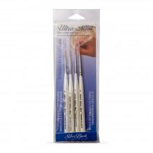 Silver Brush : Ultra Mini : Golden Taklon Brush : Ultimate Round Set of 4