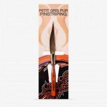 Da Vinci : Kazan Squirrel Hair Dagger : Striper : Size 0
